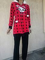 Женский велюровый костюм