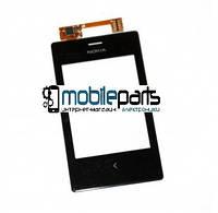Оригинальный Сенсор (Тачскрин) для Nokia 503 Asha Dual Sim (Черный)