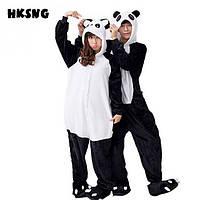 Кигуруми панда пижама теплая махровая комбинезон