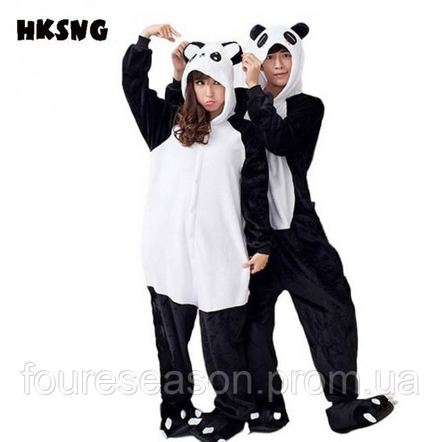 Кигуруми панда пижама теплая махровая комбинезон - Интернет-магазин