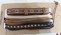 Плетенный браслет для мужчин, многорядные браслеты фенечки 164