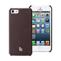 Чехол JISONCASE для iPhone 5/5S/SE Fashion Wallet Case Brown