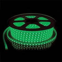 Світлодіодна LED стрічка 5050smd 220V IP68 зелена 60 LED