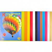 Цветной картон А4 12 листов «Коленкор» (арт.CK12)