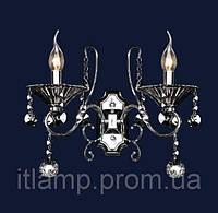 Бра, светильник настенный классический с хрусталем 702W1302-2 CH+B