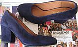 Nona! женские 40 41 42 43 размер качественные классические туфли красные взуття на каблуке 7,5 см батал, фото 9