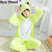 Кигуруми жабка  пижама теплая махровая комбинезон