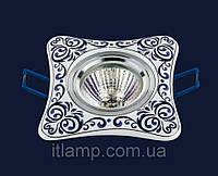 Врезной светильник со стеклом 70595BLUE