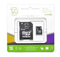 Карта памяти micro SDHC T&G 32GB class 10 (с SD адаптером)