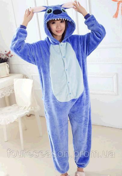 Кигуруми лило и стич пижама теплая махровая комбинезон 818b92ee9acf8
