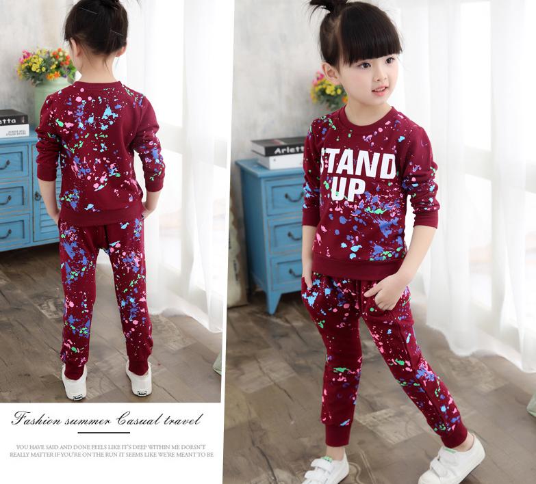 ... Яскравий спортивний костюм для дівчаток f3cd6e5197690