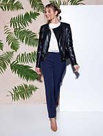 Женская кожаная куртка -косуха от р. 42-50 черная