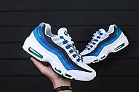 Размеры 43 и 44!!! Мужские кроссовки Nike Air Max 95 Og Slate Blue / найк  / реплика (1:1 к оригиналу)