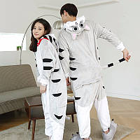 Кигуруми кошка  пижама теплая махровая комбинезон