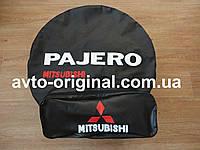 Чехол для запасного колеса Mitsubishi Pajero (Мицубиси Паджеро) с логотипом. Изготовление 1 день.