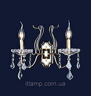 Золотое бра с хрусталем классическое Art702lstW3023_2