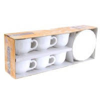 Кофейный сервиз luminarc trianon белый 160 мл 6 штук (51946)