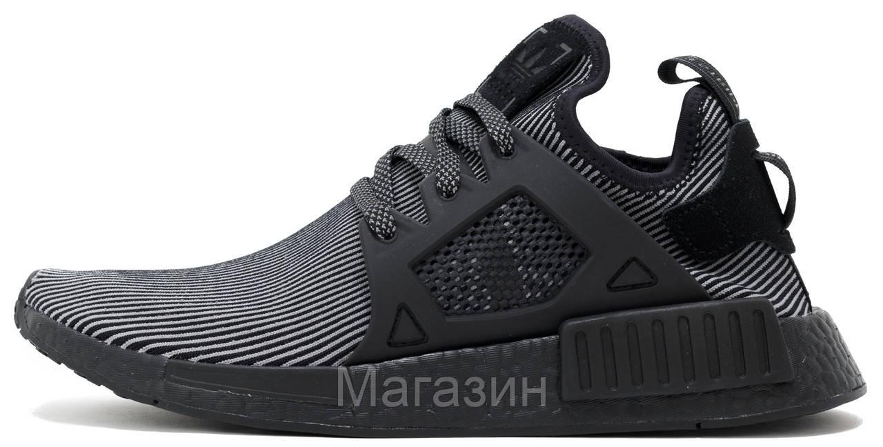 Мужские кроссовки Adidas Originals NMD XR1 Primeknit Black (в стиле Адидас НМД) черные