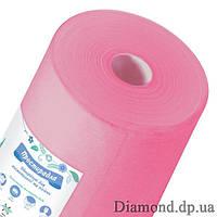 Простыни  спанбонд в рулоне 0,6м*100п.м., 20 г/м2, розовый, Panni Mlada