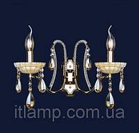 Золотое бра с бежевым хрусталем Art702lstW7031_2 золото