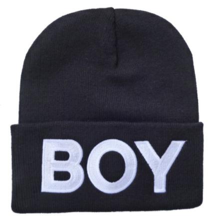 Вязанная демисезонная шапка BOY