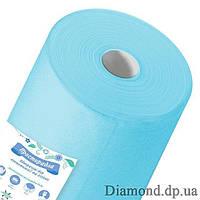 Простыни  спанбонд в рулоне 0,6м*100п.м., 20 г/м2, голубой, Panni Mlada