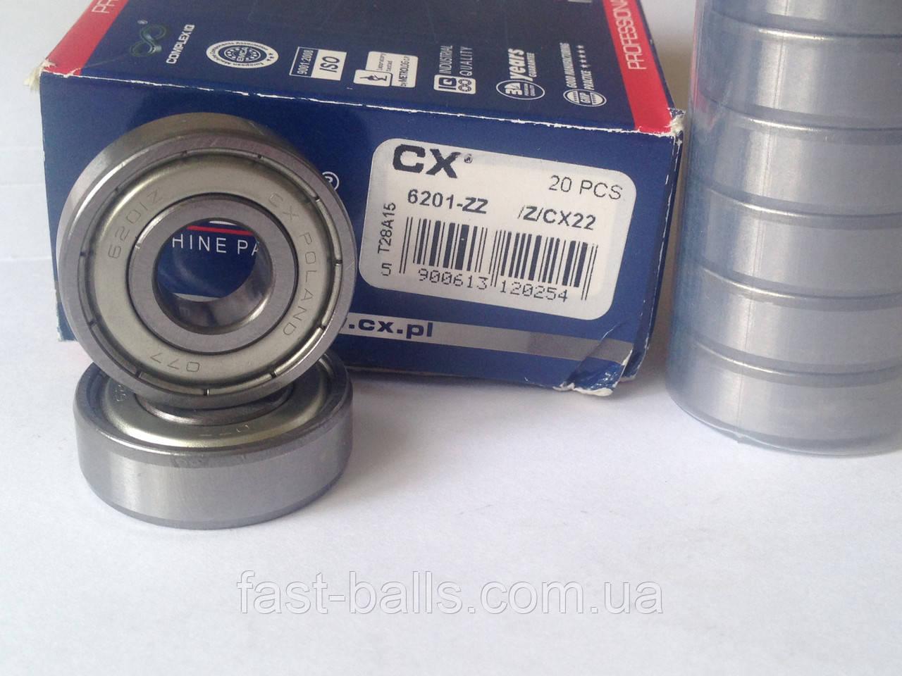Однорядный подшипник CX 6201 2Z (12х32х10) - ФОП Танана А.В. в Киеве