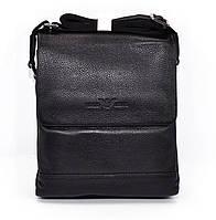 Сумка мужская большая кожаная планшет черная Giorgio Armani 7911-3, фото 1