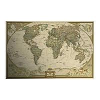 Декор: Ретро стиль - Географическая карта мира.