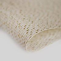 Канва для вышивки Star-Aida Zweigart 14 (36х46см.) крем с золотистым люриксом 3706/118, фото 1