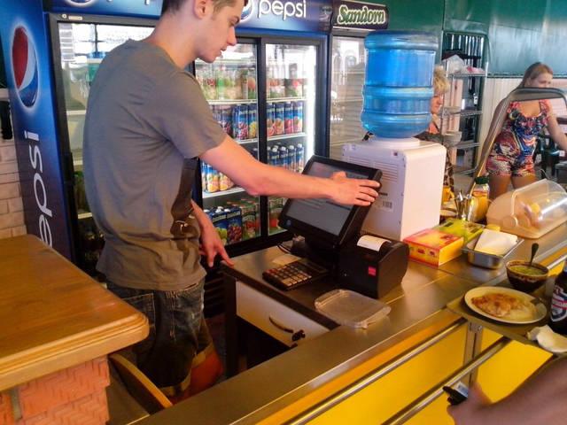 Линия раздачи  Рабочее место столовая/бар