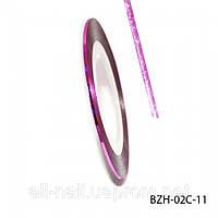 Цветная cамоклеющаяся лента для дизайна ногтей, розовая, №11