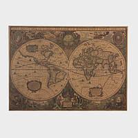 Декор: Ретро стиль - Античная карта мира.