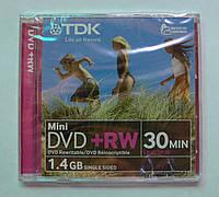 Диск TDK  DVD+RW 1.4Gb Jewel Case 8cm