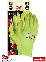 Защитные перчатки из нейлона FLUON-YELLOW YY
