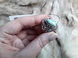 Ларимар кільце з натуральним карибським ларимаром Домінікана. Розмір 19,5. Ексклюзив!, фото 5