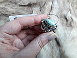 Ларимар кольцо с натуральным карибским ларимаром Доминикана. Размер 19,5. Эксклюзив!, фото 4