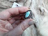 Ларимар кольцо с натуральным карибским ларимаром Доминикана. Размер 19,5. Эксклюзив!, фото 2