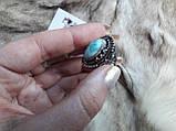 Ларимар кольцо с натуральным карибским ларимаром Доминикана. Размер 19,5. Эксклюзив!, фото 6