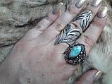 Ларимар кільце з натуральним карибським ларимаром Домінікана. Розмір 19,5. Ексклюзив!, фото 4