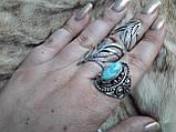 Ларимар кільце з натуральним карибським ларимаром Домінікана. Розмір 19,5. Ексклюзив!, фото 7