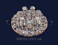 Светильник с плафоном и стразами Art712lstA3654коричн\проз