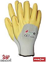 Рукавицы защитные, изготовленные из полиэфира, с нитриловым покрытием, заканчивающиеся резинкой NITRIX WY