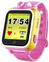 Детские часы с GPS трекером с камерой Q200 розовые
