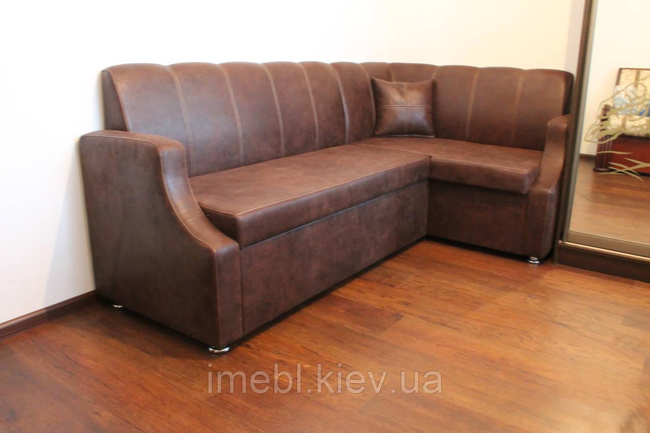 Мягкая кухонная мебель по размерам (Шоколадный цвет)