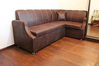 Мягкая кухонная мебель по размерам (Шоколадный цвет), фото 1