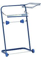 Katrin держатель для протирочных материалов напольный синий металлический
