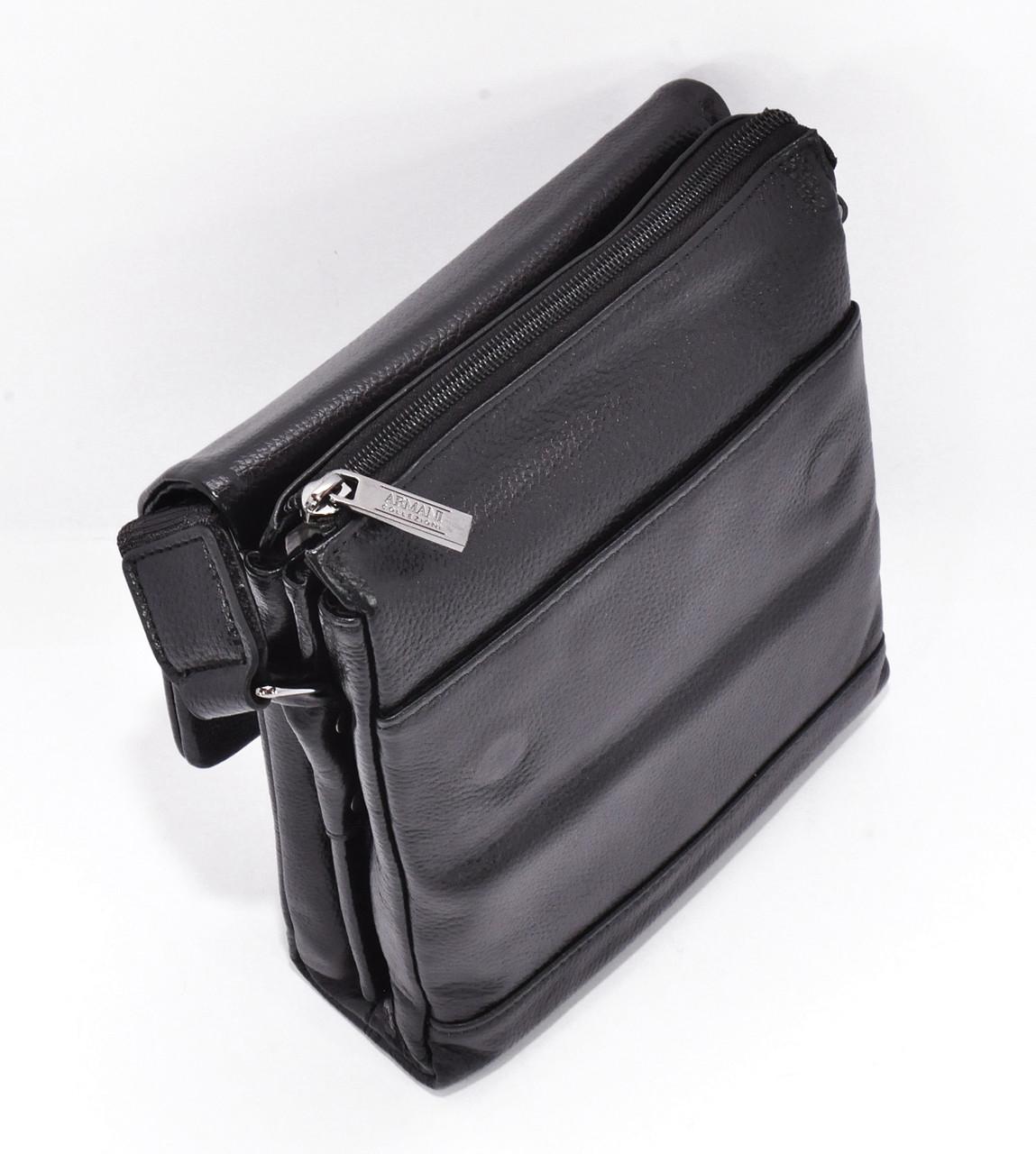 ... Сумка мужская средняя кожаная планшет черная Giorgio Armani 7911-2, ... 46941cd0817