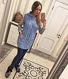 Женский вязаный кардиган-безрукавка на молнии с капюшоном (в расцветках), фото 4