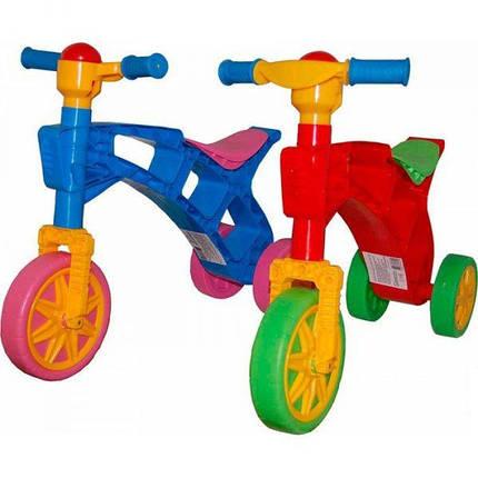 Ролоцикл 3 велобег трехколесный 3220 пластмассовый детский Украина, фото 2